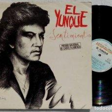 Discos de vinilo: EL YUNQUE - SENTIMIENTO - LP 1983 - HISPAVOX. Lote 194326718