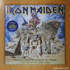 Discos de vinilo: IRON MAIDEN - SOMEWHERE BACK IN TIME THE BEST OF 1980 1989 - PICTURE DISC - 2 LP. Lote 194328078