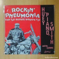 Discos de vinilo: HUEY PIANO SMITH AND THE CLOWS - ROCKIN´ PNEUMONIA AND THE BOOGIE WOOGIE FLU - LP. Lote 194328232