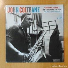 Discos de vinilo: JOHN COLTRANE - MY FAVORITE THINGS & AFRICA / BRASS - GATEFOLD - 2 LP. Lote 194328420