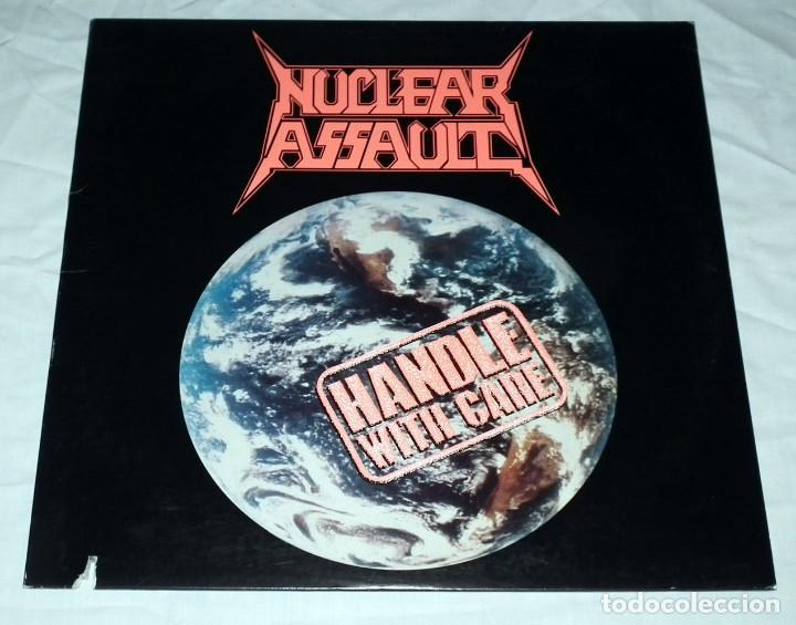 LP NUCLEAR ASSAULT - HANDLE WITH CARE (Música - Discos - LP Vinilo - Heavy - Metal)