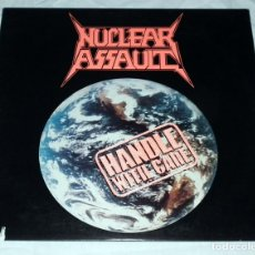 Discos de vinilo: LP NUCLEAR ASSAULT - HANDLE WITH CARE . Lote 194329945