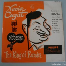 Disques de vinyle: DISCO VINILO XAVIER CUGAT AND HIS ORCHESTRA – THE KING OF RUMBA – PHILIPS MINIGROOVE 33 1/3. Lote 194331726