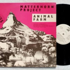 Discos de vinilo: MATTERHORN PROJECT - ANIMAL FARM - MAXI SINGLE 1987 - OPEN. Lote 194333776