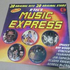 Discos de vinilo: MUSIC EXPRESS 20 ORIGINAL HITS 20 ORIGINAL STARS (LP) (VER FOTO CONTENIDO COMPLETO) AÑO – 1975 – EDI. Lote 194333954