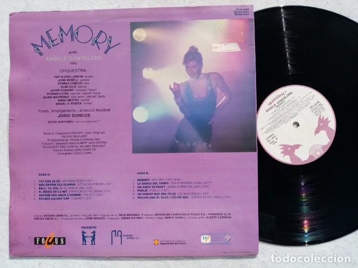 Discos de vinilo: ANGELS GONYALONS - memory - LP 1992 - TRANSDISC - Foto 3 - 194334337
