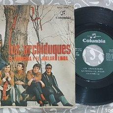 Discos de vinilo: LOS ARCHIDUQUES DISCO VINILO SINGLE. RAREZA AÑOS 70. RARO.. Lote 194334514