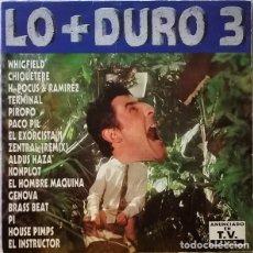 Discos de vinilo: LO + DURO 3 - DOBLE LP MAX MUSIC COMPILATION SPAIN 1994. Lote 194335249