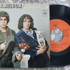 Discos de vinilo: ELKIN & NELSON - A CABALLO SINGLE DISCO VINILO. LATIN SOUL FUNK RAREZA. Lote 194335392