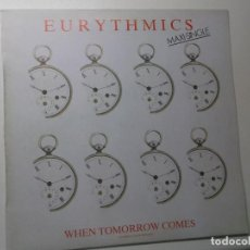 Discos de vinilo: EURYTHMICS ( WHEN TOMORROW COMES 2 VERSIONES - TAKE YOUR PAIN AWAY ) 1986. Lote 194336706