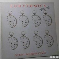 Discos de vinilo: EURYTHMICS ( WHEN TOMORROW COMES 2 VERSIONES - TAKE YOUR PAIN AWAY ) 1986. Lote 194336706