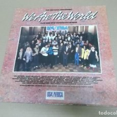 Discos de vinilo: WE ARE THE WORLD (LP) (VER FOTO CONTENIDO COMPLETO) AÑO – 1985 – PORTADA ABIERTA. Lote 194338433