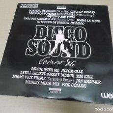 Discos de vinilo: DISCO SOUND VERANO 86 WEA (LP) (VER FOTO CONTENIDO COMPLETO) AÑO – 1986 – DOBLE DISCO - PROMOCIONAL. Lote 194338513