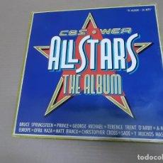 Discos de vinilo: ALL STARS THE ALBUM CBS/WEA (LP) (VER FOTO CONTENIDO COMPLETO) AÑO – 1988 – DOBLE DISCO – PORTADA AB. Lote 194338550