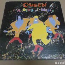 Discos de vinilo: QUEEN (LP) A KIND OF MAGIC AÑO – 1985 - ENCARTE CON LETRAS – PORTADA ABIERTA. Lote 194339428