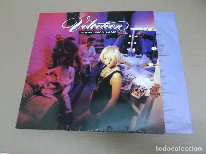 TRANSVISION VAMP (LP) VELVETEEN AÑO – 1988 - ENCARTE CON LETRAS (Música - Discos - LP Vinilo - Pop - Rock - New Wave Extranjero de los 80)