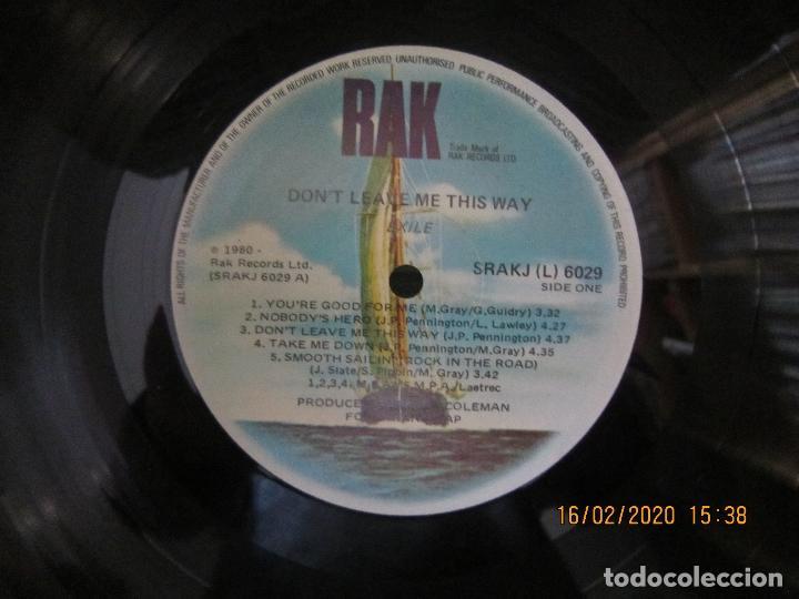 Discos de vinilo: EXILE - DON´T LEAVE ME THIS WAY LP - ORIGINAL AUSTRALIA - RAK RECORDS 1980 - - Foto 8 - 194339908
