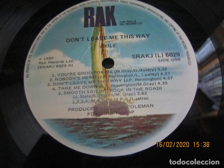 Discos de vinilo: EXILE - DON´T LEAVE ME THIS WAY LP - ORIGINAL AUSTRALIA - RAK RECORDS 1980 - - Foto 10 - 194339908