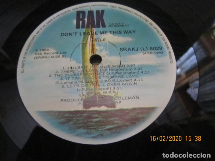 Discos de vinilo: EXILE - DON´T LEAVE ME THIS WAY LP - ORIGINAL AUSTRALIA - RAK RECORDS 1980 - - Foto 11 - 194339908