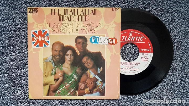 THE MANHATTAN TRANSFER - CHANSON D´AMOUR / POSICLE TOES. SINGLE EDITADO POR HISPAVOX. AÑO 1.977 (Música - Discos - Singles Vinilo - Pop - Rock - Extranjero de los 70)