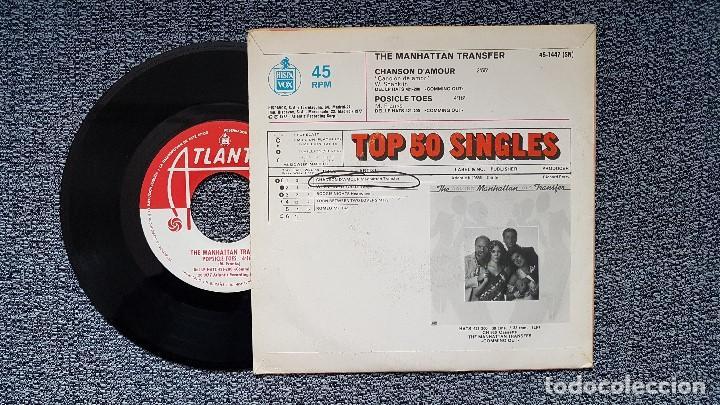 Discos de vinilo: The Manhattan Transfer - Chanson d´amour / Posicle toes. Single editado por Hispavox. año 1.977 - Foto 2 - 194340210