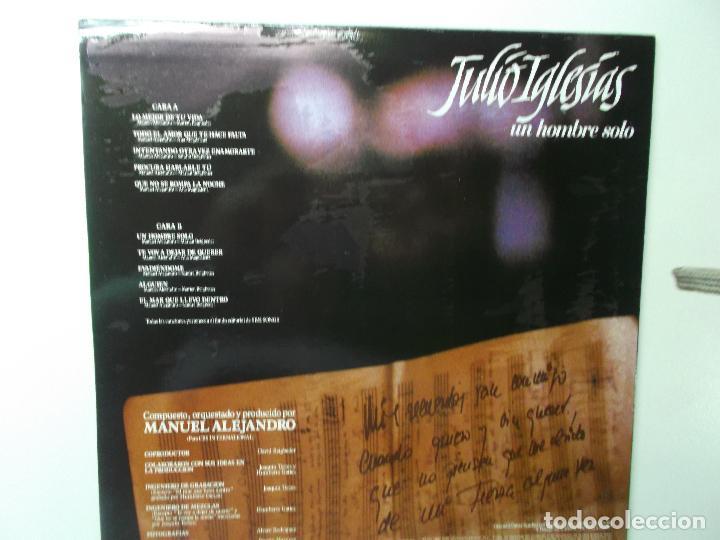 Discos de vinilo: JULIO IGLESIAS,UN HOMBRE SOLO 1987 - Foto 2 - 194341831