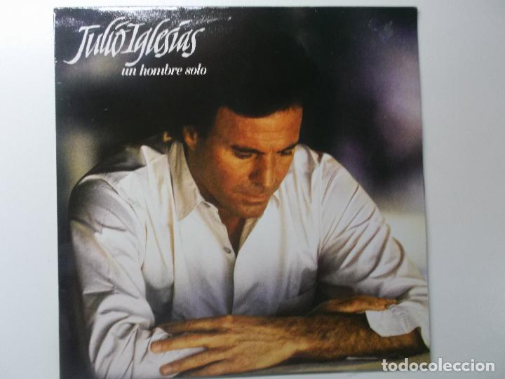 JULIO IGLESIAS,UN HOMBRE SOLO 1987 (Música - Discos - LP Vinilo - Solistas Españoles de los 70 a la actualidad)