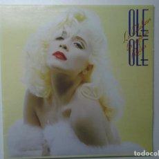 Discos de vinilo: OLE OLE, LOS CABALLEROS LAS PREFIEREN RUBIAS,1987, DOBLE PORTADA. Lote 194342288