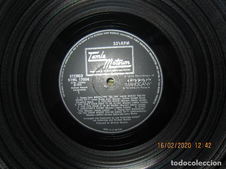 Discos de vinilo: DIANA ROSS AS MAHOGANY LP B.S.O. - ORIGINAL INGLES - TAMLA MOTOWN RECORDS 1975 - - Foto 11 - 194343368