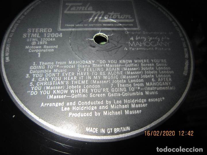 Discos de vinilo: DIANA ROSS AS MAHOGANY LP B.S.O. - ORIGINAL INGLES - TAMLA MOTOWN RECORDS 1975 - - Foto 12 - 194343368