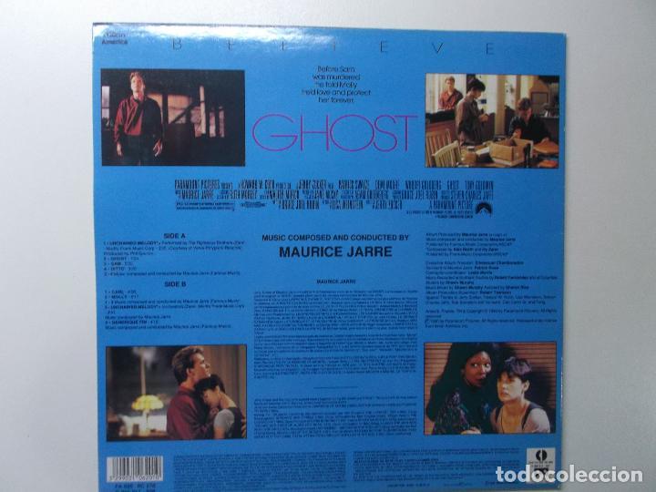 Discos de vinilo: GHOST - MUSICA DE MAURICE JARRE - LP BANDA SONORA ORIGINAL 1990 - Foto 3 - 194343648