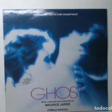 Discos de vinilo: GHOST - MUSICA DE MAURICE JARRE - LP BANDA SONORA ORIGINAL 1990. Lote 194343648