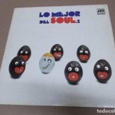 Discos de vinilo: LO MEJOR DEL SOUL 2 (LP) (VER FOTO CONTENIDO COMPLETO) AÑO – 1973 – DOBLE DISCO CON PORTADA ABIERTA. Lote 194344287