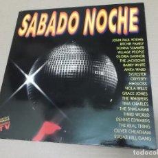 Discos de vinilo: SABADO NOCHE (LP) (VER FOTO CONTENIDO COMPLETO) AÑO – 1991 – DOBLE DISCO PORTADA ABIERTA. Lote 194344460