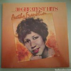 Discos de vinilo: ARETHA FRANKLIN - 30 GREATEST HITS - 2 LPS VINILO. Lote 194346001