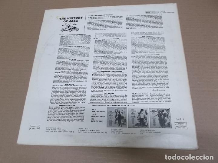 Discos de vinilo: THE HISTORY OF JAZZ VOLUME TWO (LP) (VER FOTO CONTENIDO COMPLETO) AÑO – 1958 - Foto 2 - 194347223