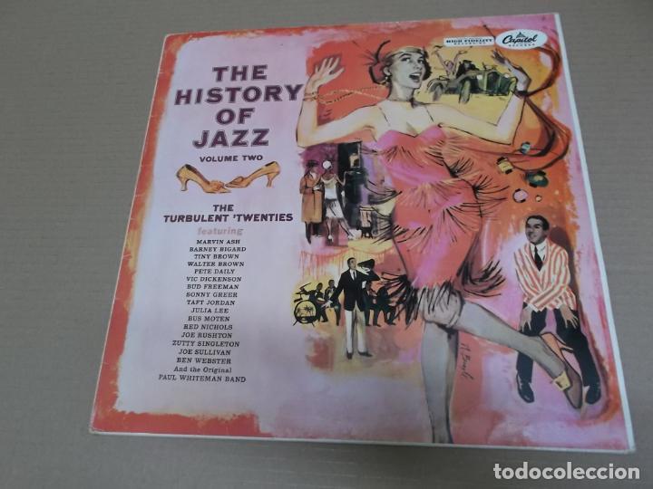 THE HISTORY OF JAZZ VOLUME TWO (LP) (VER FOTO CONTENIDO COMPLETO) AÑO – 1958 (Música - Discos - LP Vinilo - Jazz, Jazz-Rock, Blues y R&B)