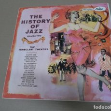 Discos de vinilo: THE HISTORY OF JAZZ VOLUME TWO (LP) (VER FOTO CONTENIDO COMPLETO) AÑO – 1958. Lote 194347223