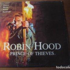 Discos de vinilo: ROBIN HOOD - PRINCE OF THIEVES *************** RARO LP ESPAÑOL 1991. Lote 194347260