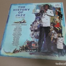 Discos de vinilo: THE HISTORY OF JAZZ VOLUME THREE (LP) (VER FOTO CONTENIDO COMPLETO) AÑO – 1958. Lote 194347392