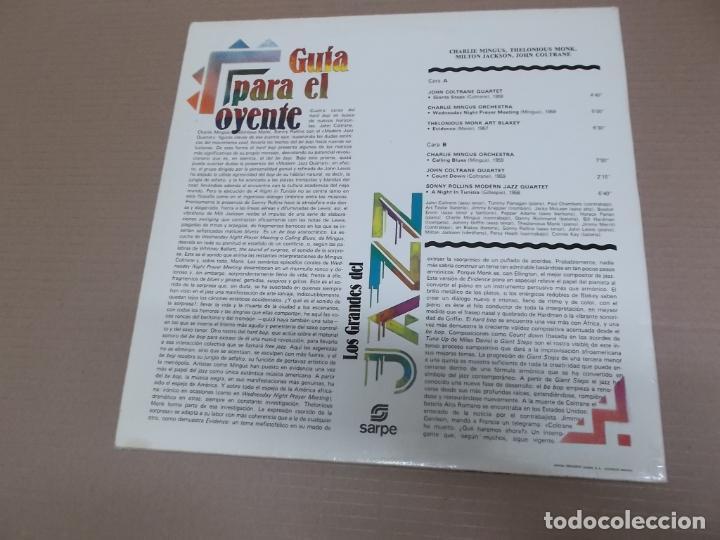 Discos de vinilo: LOS GRANDES DEL JAZZ 16 (LP) (VER FOTO CONTENIDO COMPLETO) AÑO – 1980 - Foto 2 - 194347717