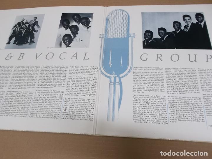 Discos de vinilo: THE FIFTIES R&B VOCAL GROUPS (LP) (VER FOTO CONTENIDO COMPLETO) AÑO – 1987 – PORTADA ABIERTA - Foto 2 - 194347835