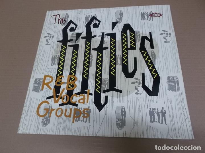 THE FIFTIES R&B VOCAL GROUPS (LP) (VER FOTO CONTENIDO COMPLETO) AÑO – 1987 – PORTADA ABIERTA (Música - Discos - LP Vinilo - Jazz, Jazz-Rock, Blues y R&B)