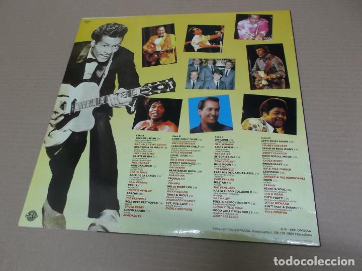 Discos de vinilo: ESTO ES…ROCK 'N' ROLL (LP) (VER FOTO CONTENIDO COMPLETO) AÑO – 1991 – DOBLE DISCO PORTADA ABIERTA - Foto 2 - 194349372