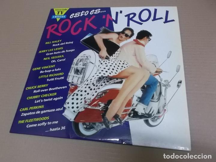 ESTO ES…ROCK 'N' ROLL (LP) (VER FOTO CONTENIDO COMPLETO) AÑO – 1991 – DOBLE DISCO PORTADA ABIERTA (Música - Discos - LP Vinilo - Rock & Roll)