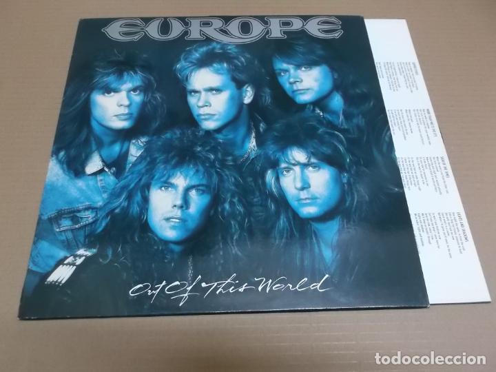 EUROPE (LP) OUT OF THIS WORLD AÑO – 1988 - ENCARTE CON LETRAS (Música - Discos - LP Vinilo - Heavy - Metal)