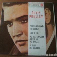 Discos de vinilo: ELVIS PRESLEY - MYSTERY TRAIN + 3 *********** RARO EP ESPAÑOL 1962. Lote 194350876