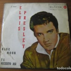 Discos de vinilo: ELVIS PRESLEY - BLUE MOON *********** RARO SINGLE ESPAÑOL 1962. Lote 194350953