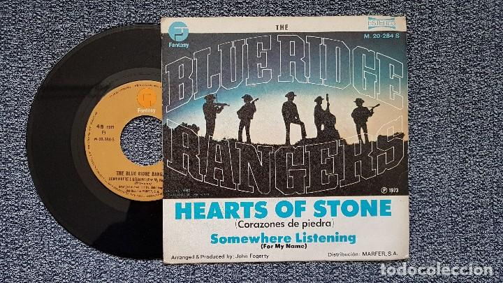 Discos de vinilo: The Blue Ridge Rangers - Hearts of stone / Somewhere listening . Editado por Marfer . año 1.973 - Foto 2 - 194353260