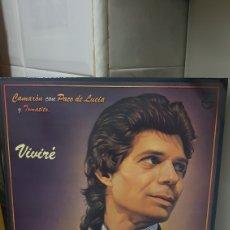 Discos de vinilo: LP CAMARON CON PCO DE LUCIA Y TOMATITO VIVIRE. Lote 194354493